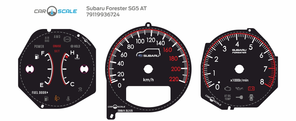 SUBARU FORESTER SG5 AT 28