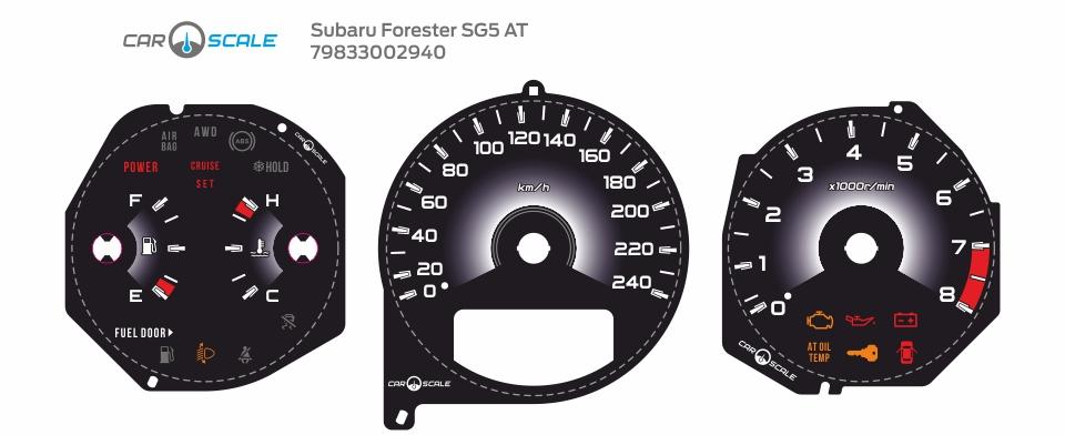 SUBARU FORESTER SG5 AT 36