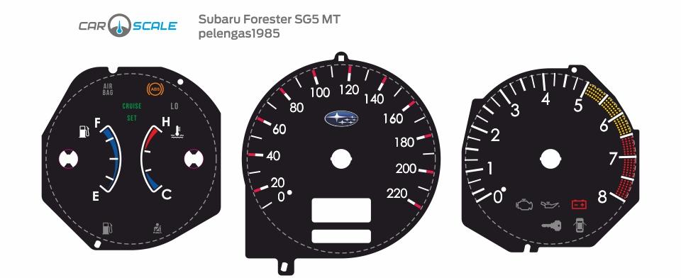 SUBARU FORESTER SG5 MT 01