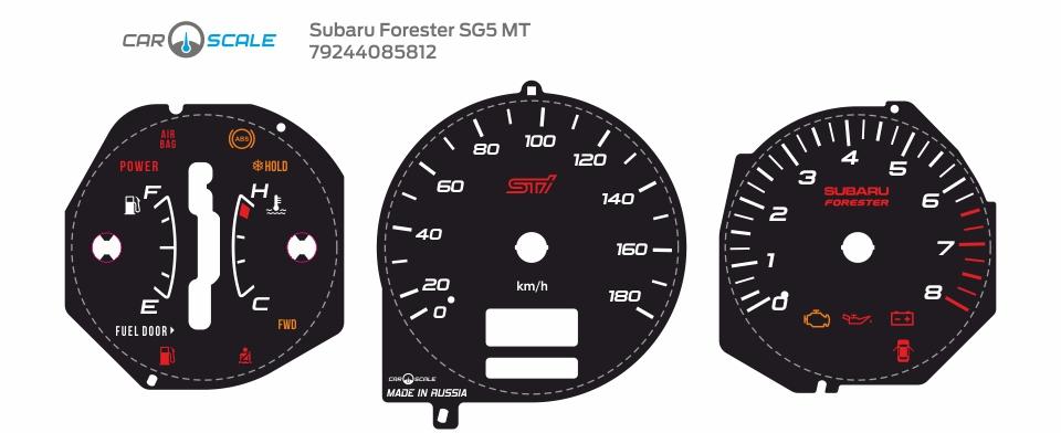SUBARU FORESTER SG5 MT 02