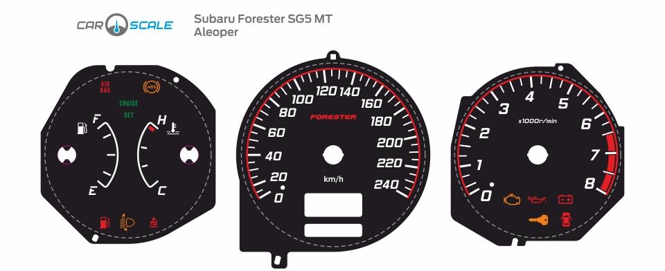 SUBARU FORESTER SG5 MT 07