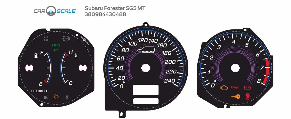 SUBARU FORESTER SG5 MT 08