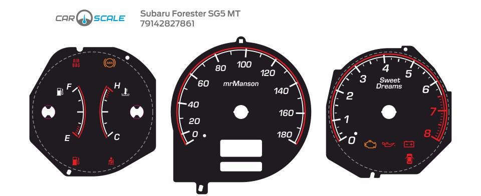 SUBARU FORESTER SG5 MT 09