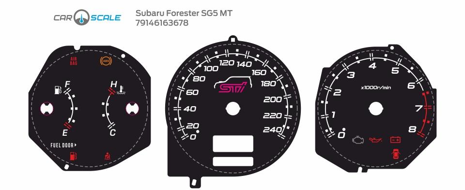 SUBARU FORESTER SG5 MT 10