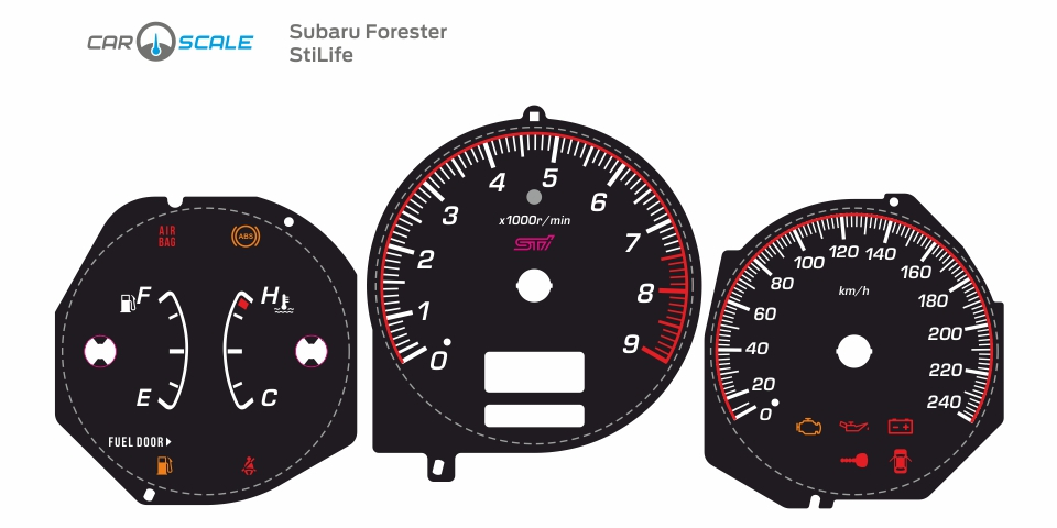 SUBARU FORESTER SG5 MT 12
