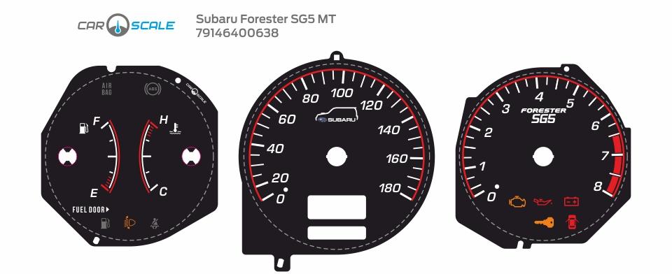 SUBARU FORESTER SG5 MT 15