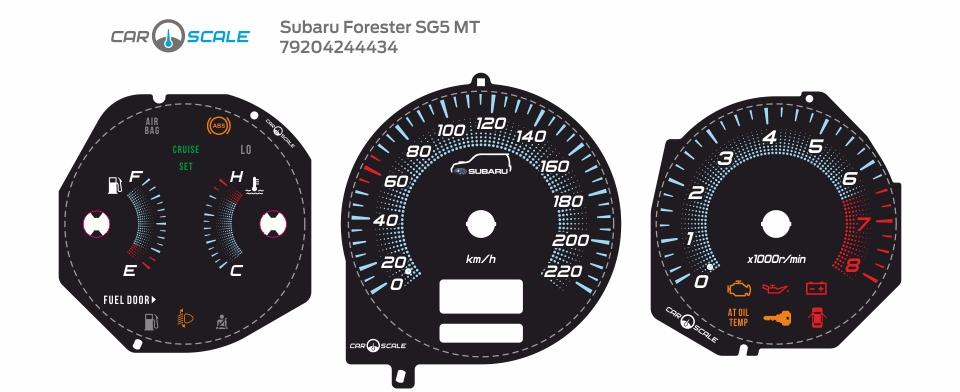 SUBARU FORESTER SG5 MT 16