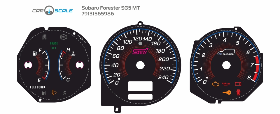 SUBARU FORESTER SG5 MT 17