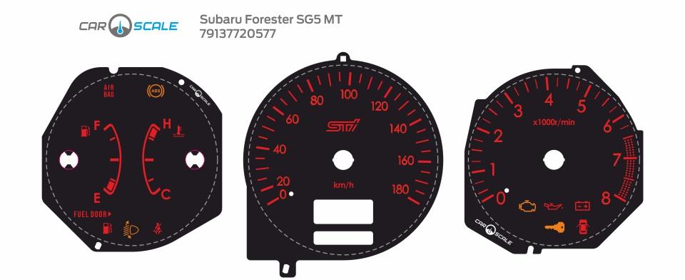 SUBARU FORESTER SG5 MT 19