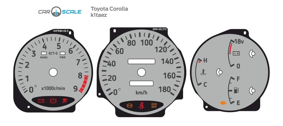 TOYOTA COROLLA 100 01